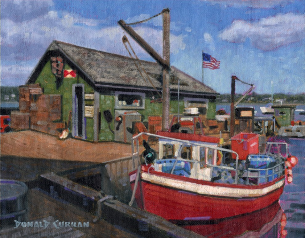 """Little Fishing Boat"" original fine art by Donald Curran"