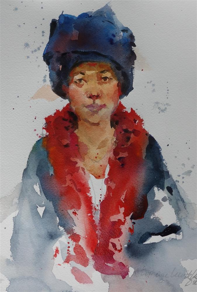 """Portrait # 7 Head dress"" original fine art by Lorraine Lewitzka"
