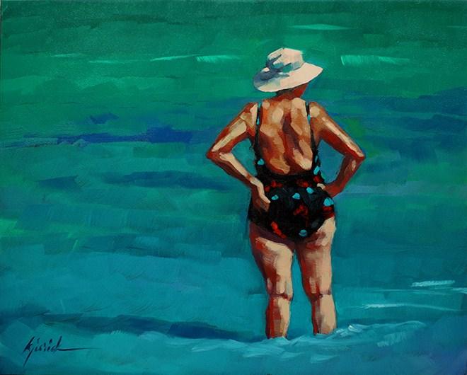 """Catching Up"" original fine art by Karin Jurick"