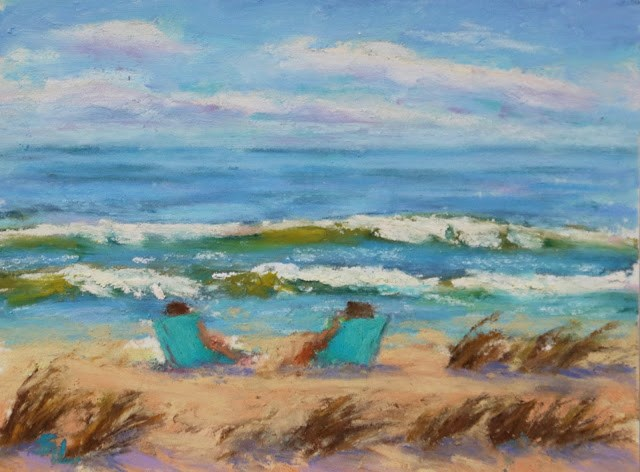 """Spring Break"" original fine art by Sharon Lewis"