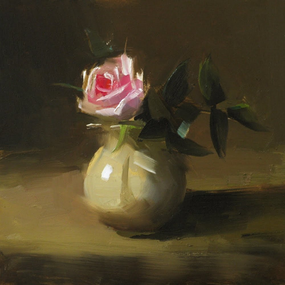 """Quiet Bloom"" original fine art by Qiang Huang"