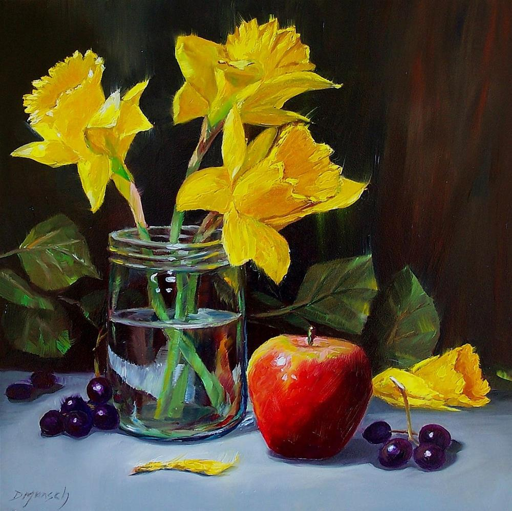 """Daffy Daffodils"" original fine art by Donna Munsch"