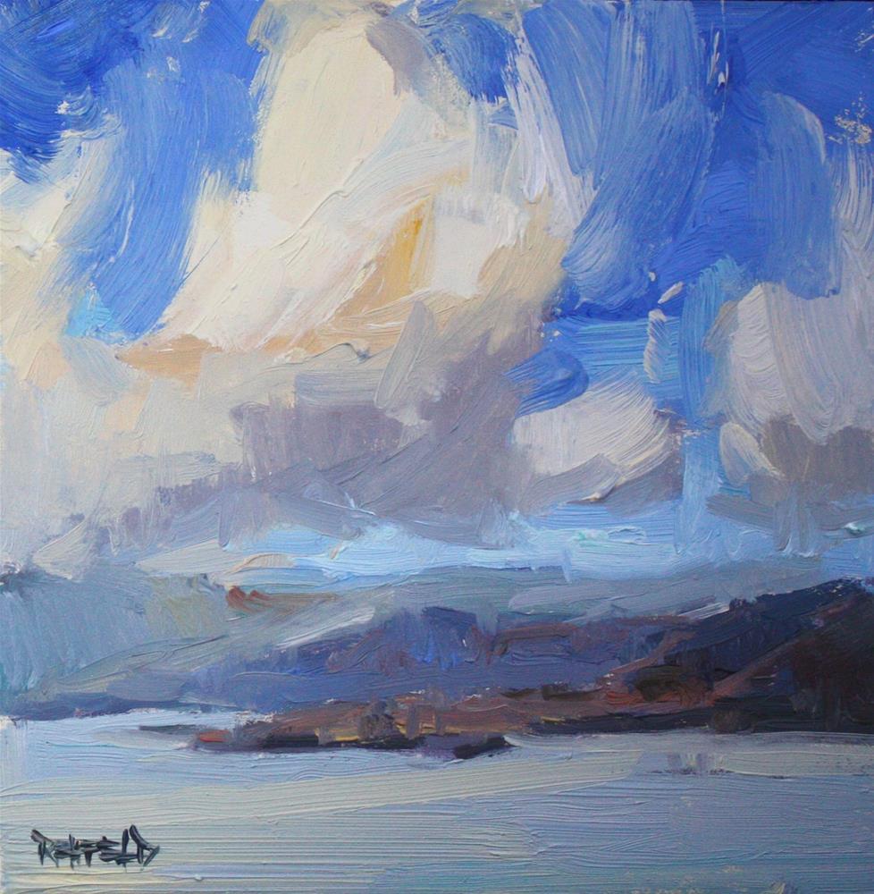 """Looking Down The Gorge II"" original fine art by Cathleen Rehfeld"