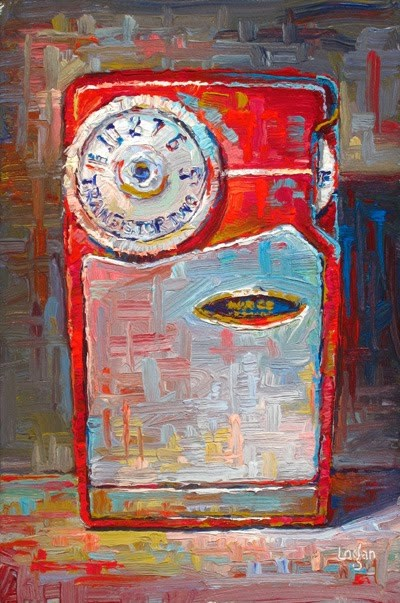 """Supertone Transistor Radio"" original fine art by Raymond Logan"