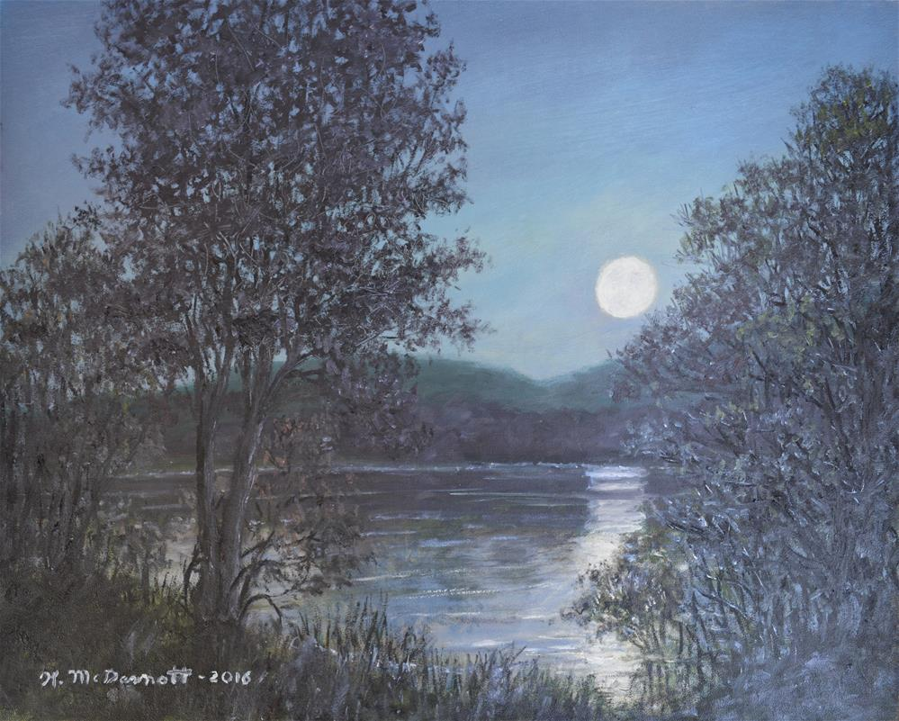 """Romance of the Moon"" original fine art by Kathleen McDermott"