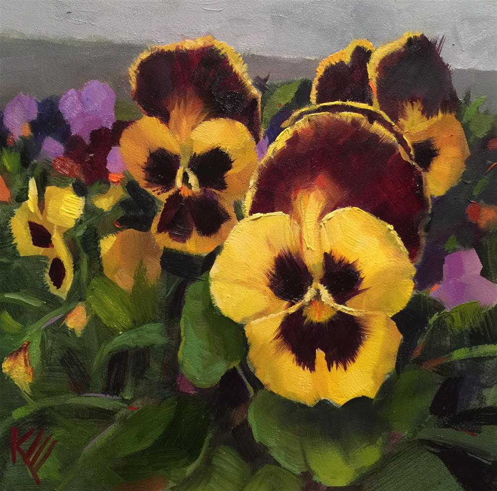 """Pansy Garden"" original fine art by Krista Eaton"