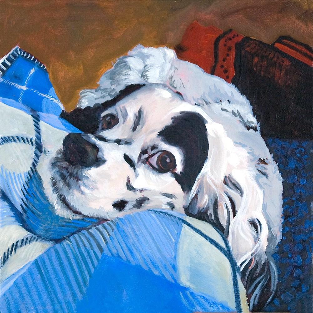 """Miles"" original fine art by Miriam Hill"