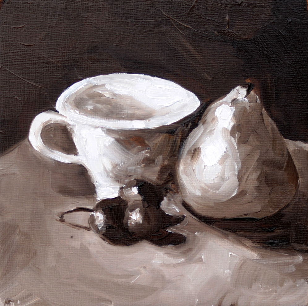 """Quick cup before the tornados hit"" original fine art by Kristen Dukat"