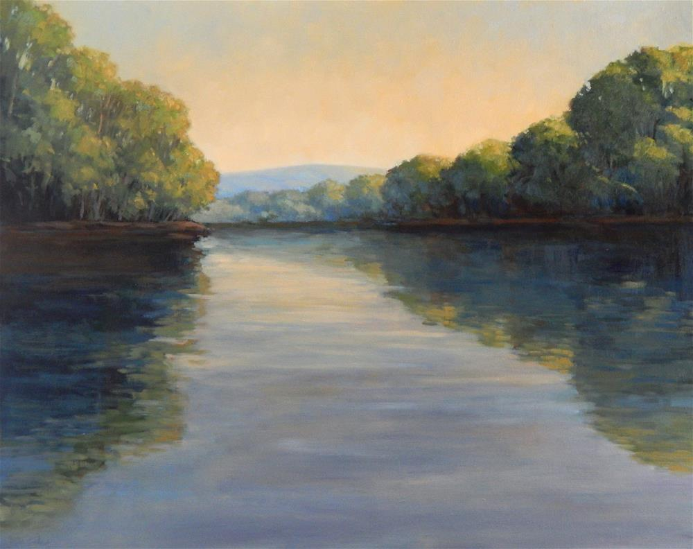 """Gold on the River"" original fine art by Lisa Kyle"