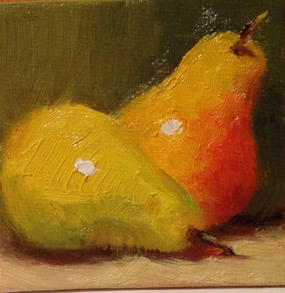 """Tiny Pears"" original fine art by Dorothy Woolbright"