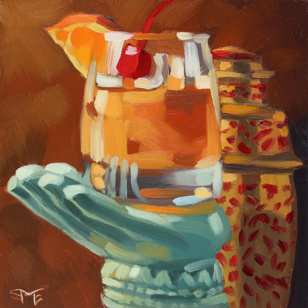 """""""Tamarind Whiskey Sour Study"""" original fine art by Sheila Evans"""