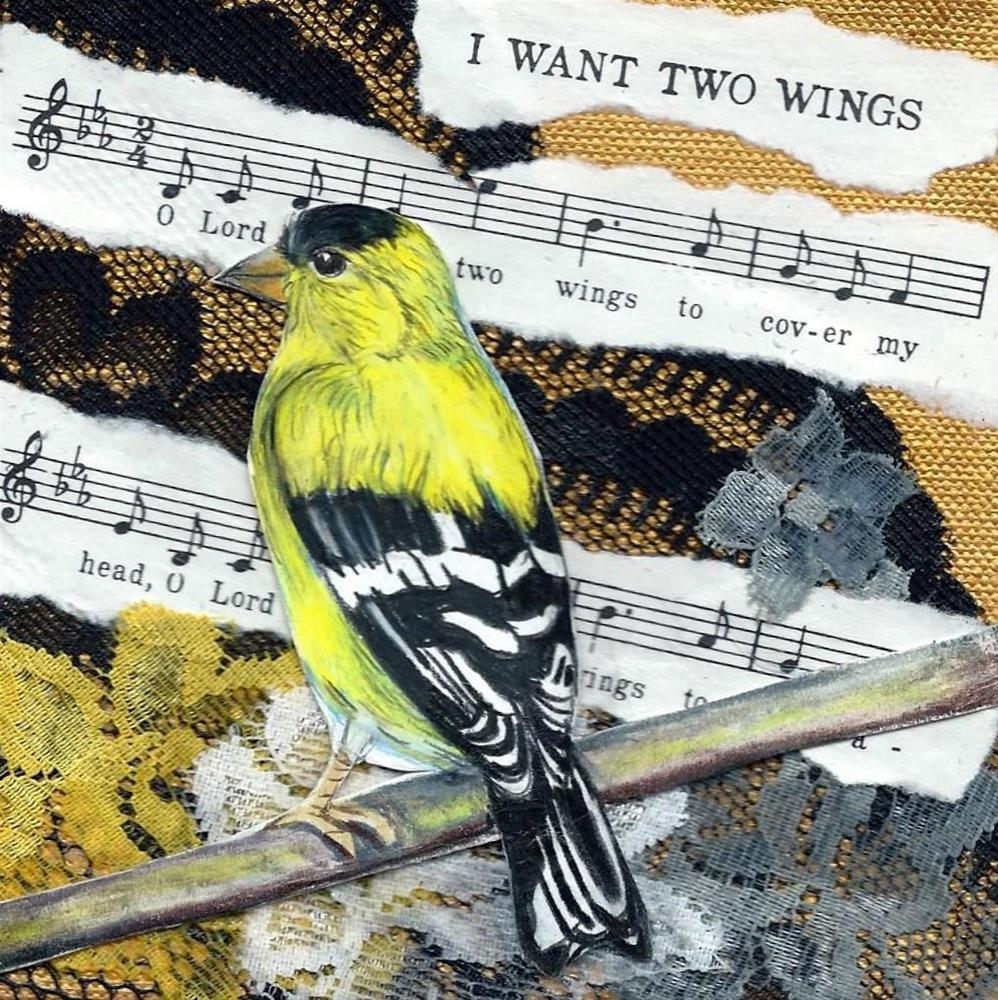 """I Want Two Wings"" original fine art by Lisa Wiertel"