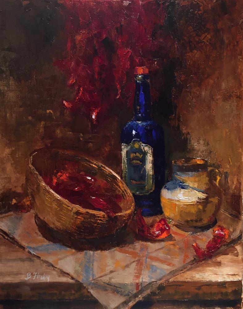 """Love the Ristra Sistra"" original fine art by Barbara Fluty"