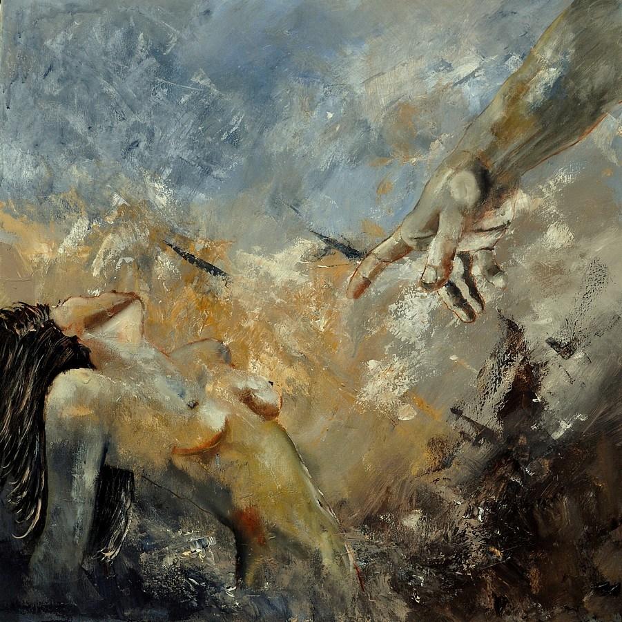 """""""God's finger"""" original fine art by Pol Ledent"""