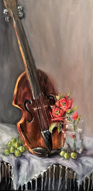 """I Am Not Playing still life painting by Alabama Artist Angela Sullivan"" original fine art by Angela Sullivan"