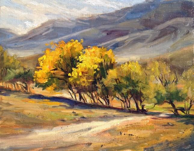 """Leona Valley Trees"" original fine art by gabriele baber"