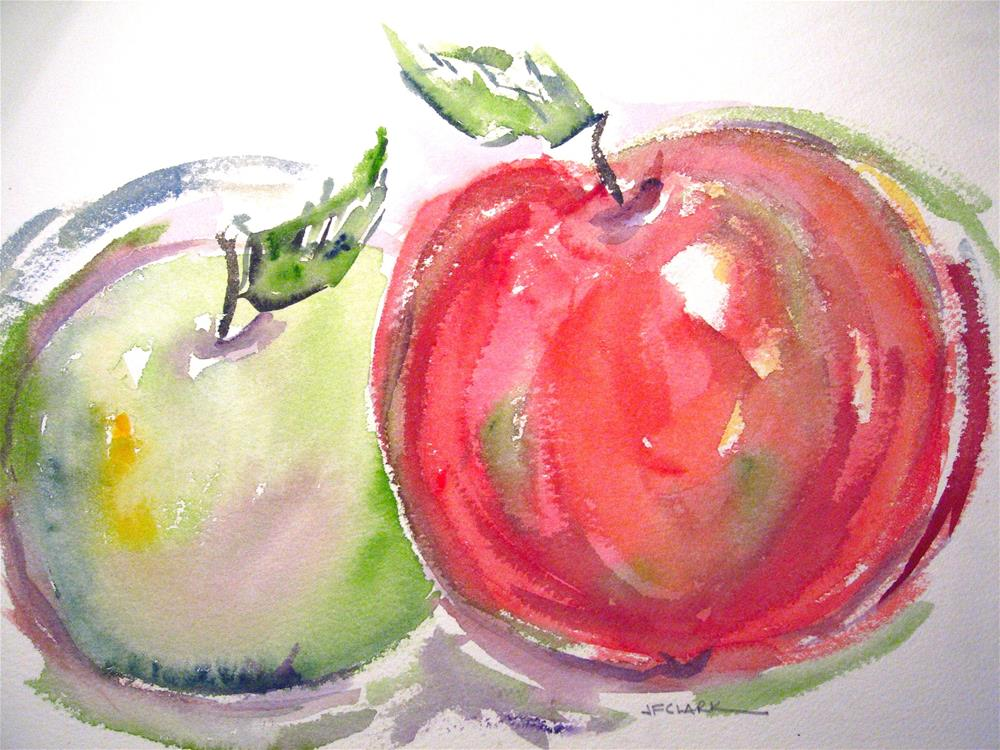 """Grannies and Macs - study"" original fine art by Judith Freeman Clark"