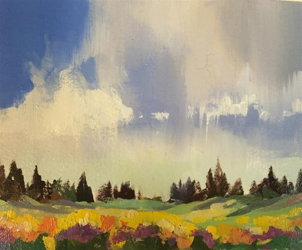 """Cedar Breaks - Spring Flowers 7"" original fine art by Mary Jabens"