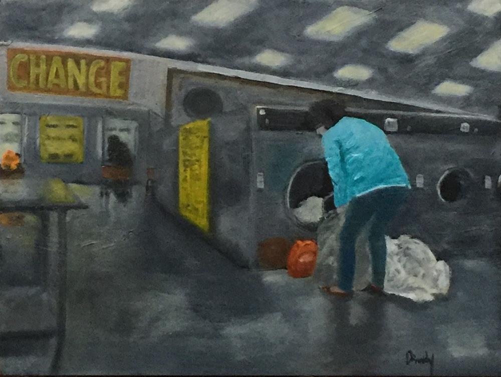 """Coin Laundry"" original fine art by Stephanie Drawdy"