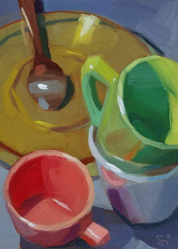 """""""Around the spoon"""" original fine art by Istvan Schaller"""
