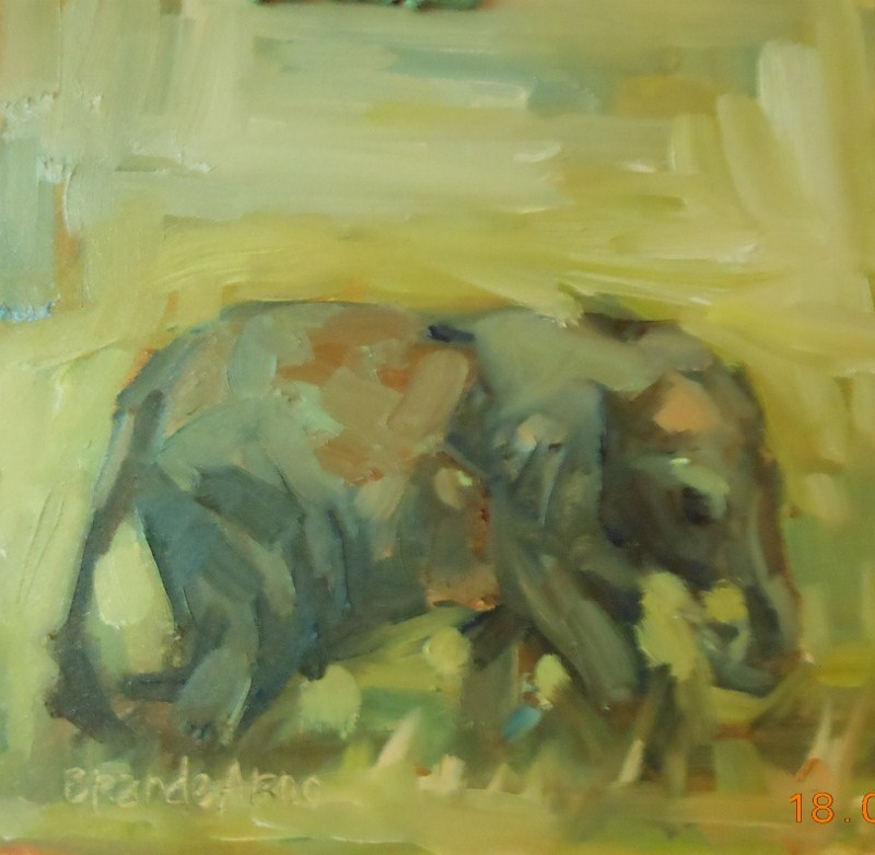 """Baby Elle"" original fine art by Brande Arno"
