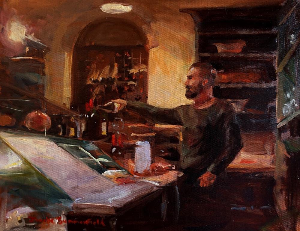 """Dinner at the Enoteca"" original fine art by Jonelle Summerfield"
