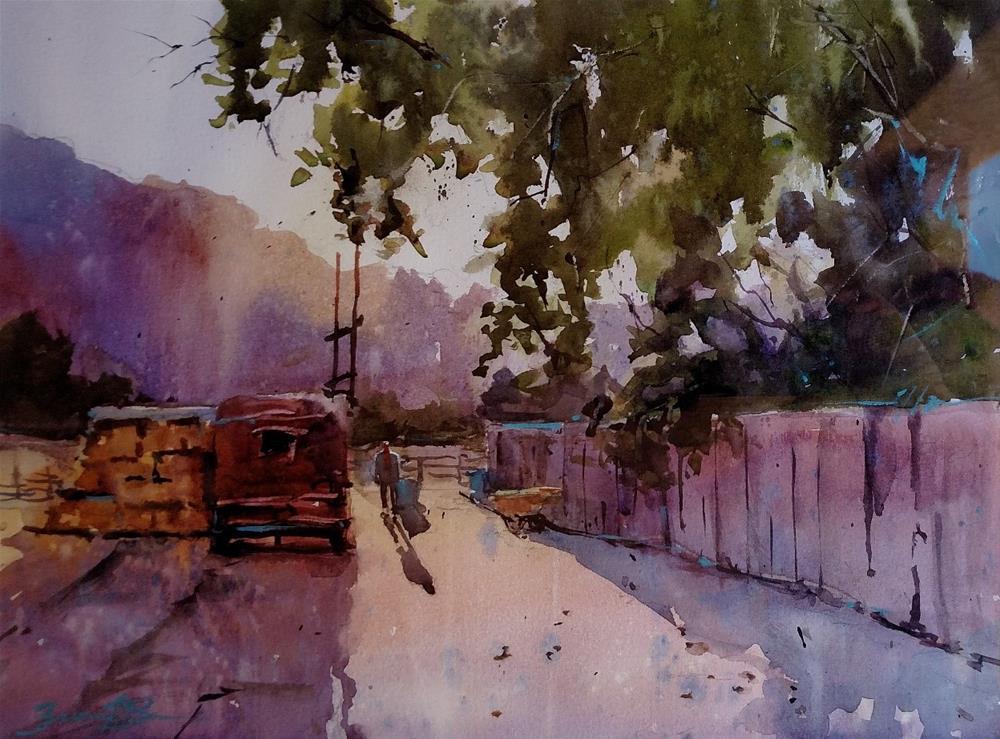 """Early Start"" original fine art by Brienne M Brown"