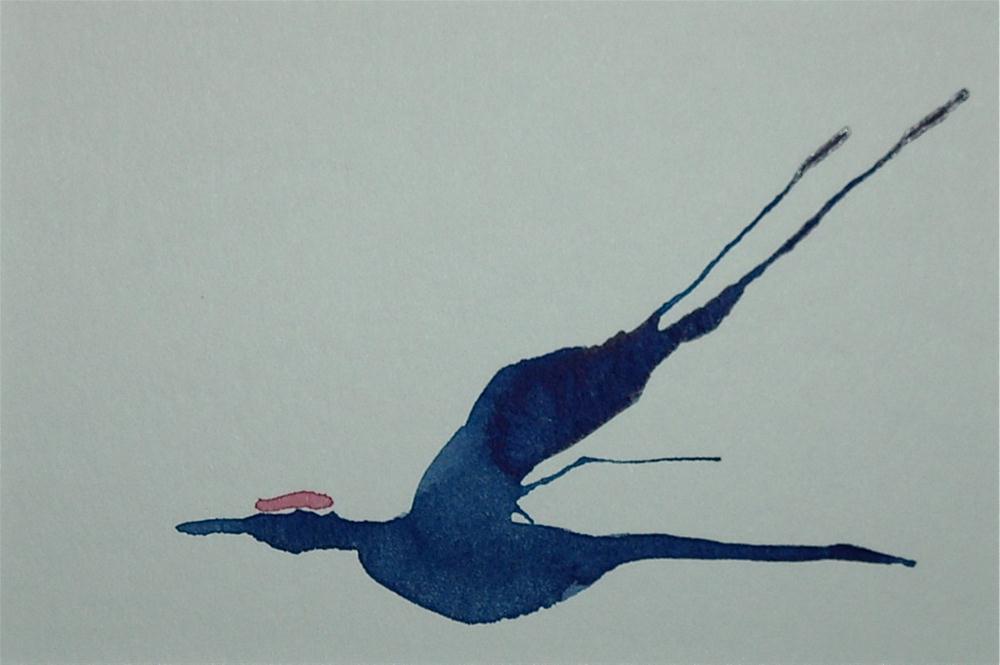 """Crane 12"" original fine art by Ulrike Schmidt"