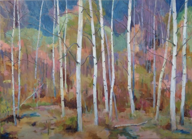 """Birch Grove"" original fine art by Katie Wilson"