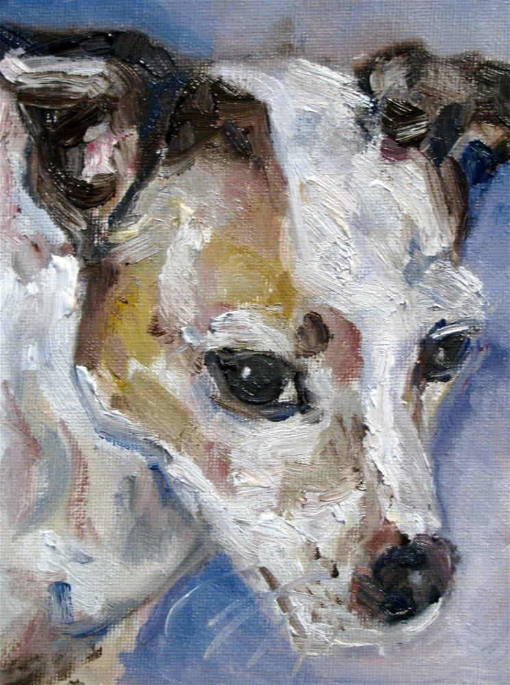 """Nipper"" original fine art by Susan Elizabeth Jones"