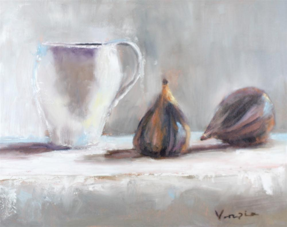 """Two Figs and Cup"" original fine art by Carrie Venezia"