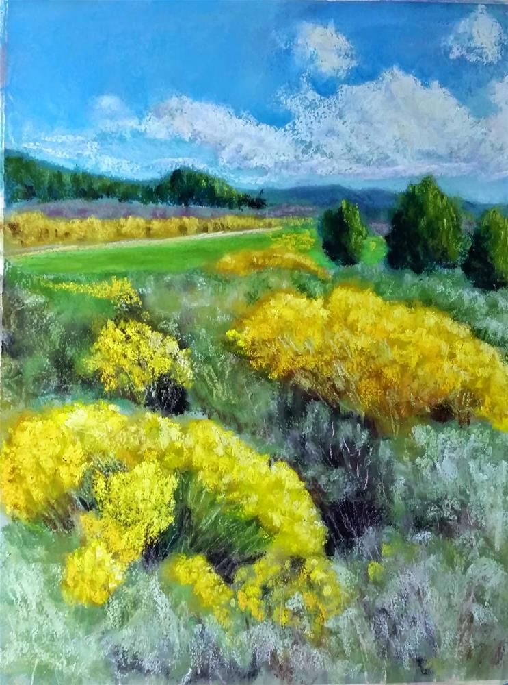 """September Rabbit Brush"" original fine art by Anna Lisa Leal"