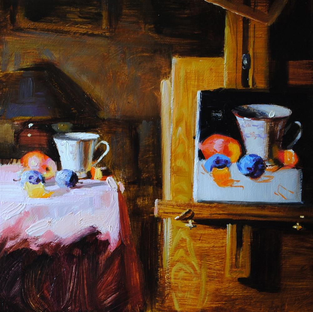 """Still Life Within a Still Life"" original fine art by Elena Katsyura"
