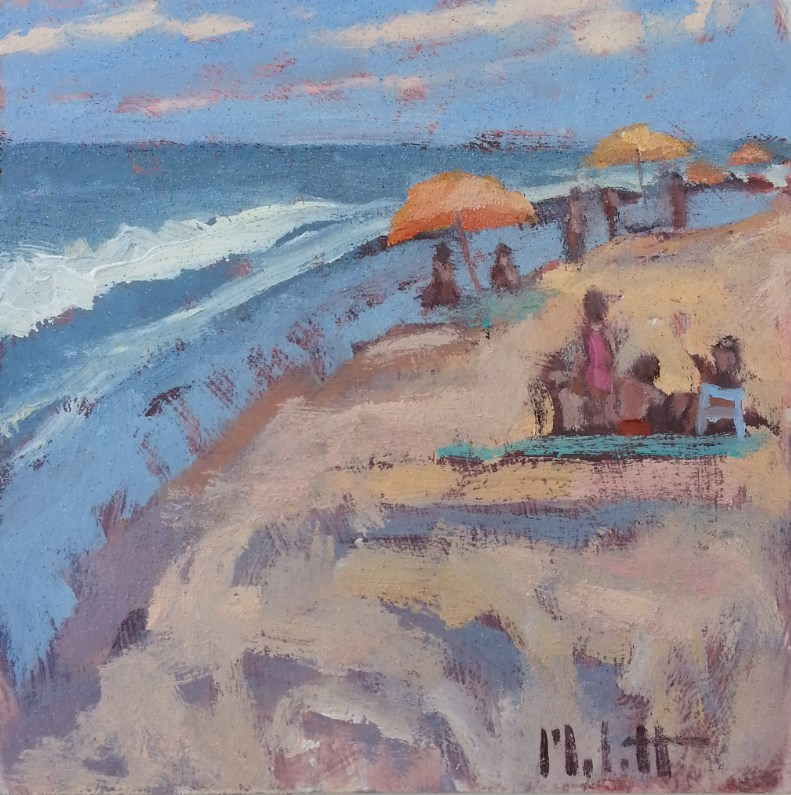 """Plein Air Beach Vacation Art Original Oil Painting Heidi Malott"" original fine art by Heidi Malott"