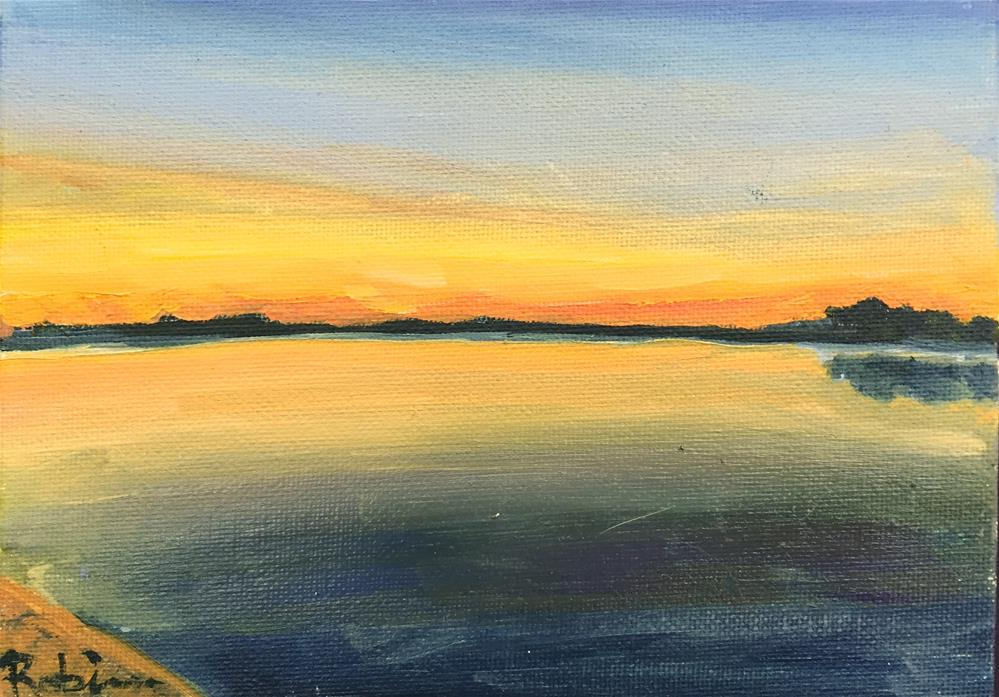 """White Rock Sunset"" original fine art by Renee Robison"