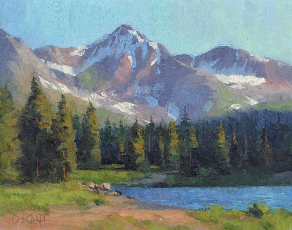 """Ruby Mountain Morning"" original fine art by Larry DeGraff"