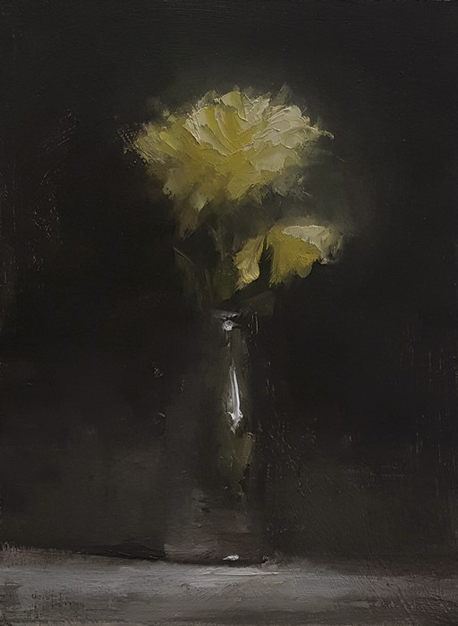 """Bottle of Flowers"" original fine art by Neil Carroll"