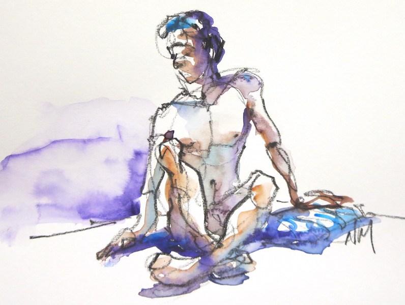 """SET OF 3"" original fine art by Nora MacPhail"
