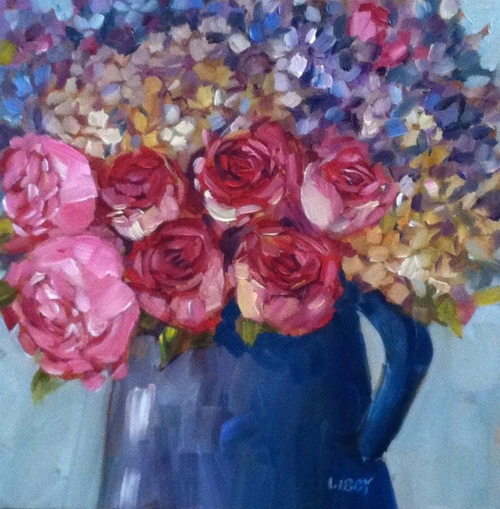 """Rose Pitcher"" original fine art by Libby Anderson"