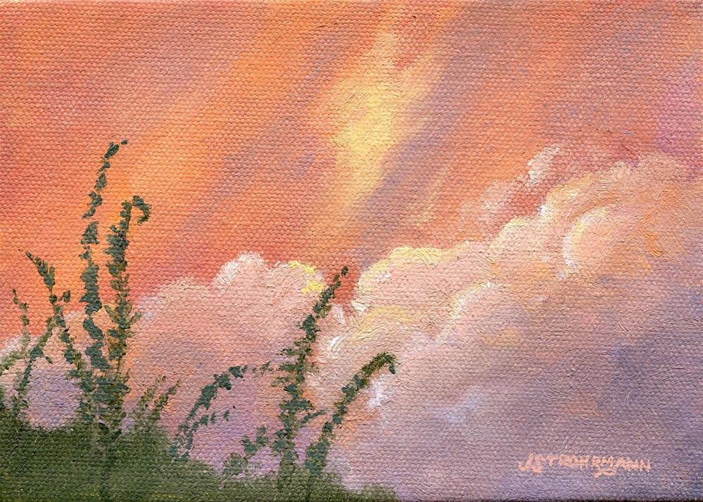 """Storm Clouds"" original fine art by Jeanne Strohrmann"