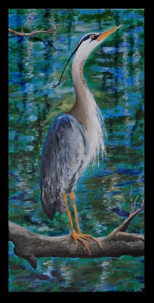 """Canal Watcher"" original fine art by Captain B Smith"