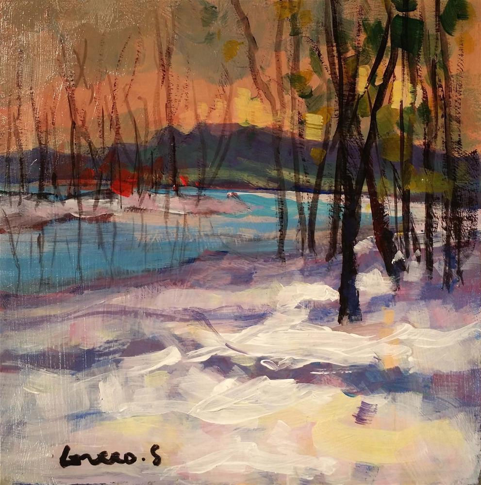 """landscape #7"" original fine art by salvatore greco"