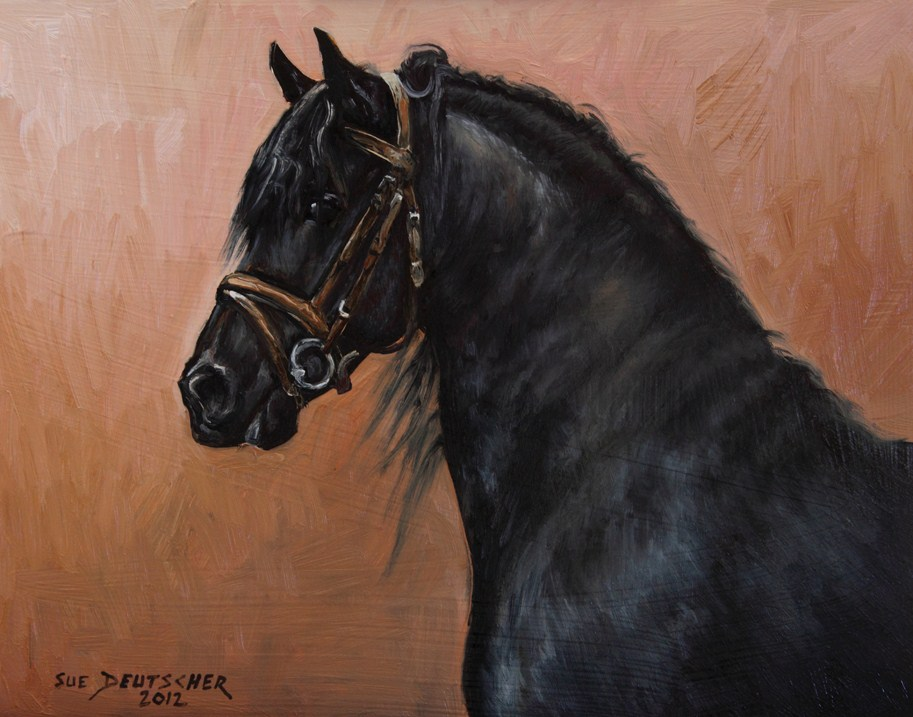 """Friesian Horse 120831"" original fine art by Sue Deutscher"