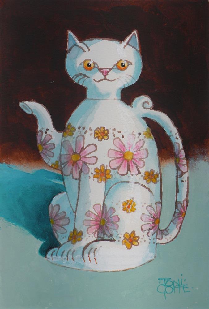 """I'm a little Teapot"" original fine art by Toni Goffe"