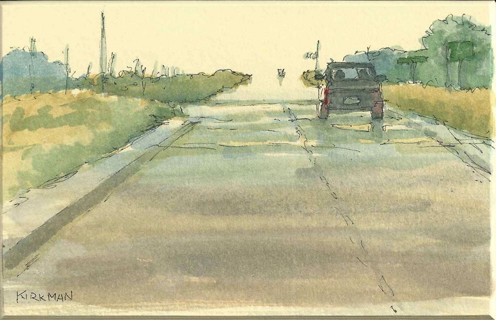 """Road Sketch 6"" original fine art by Rita Kirkman"