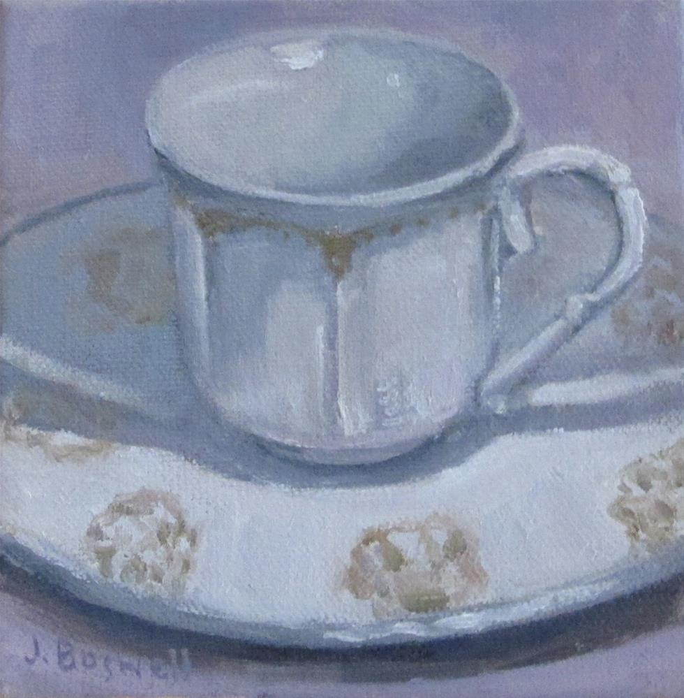 """Downton Abbey Teacup"" original fine art by Jennifer Boswell"