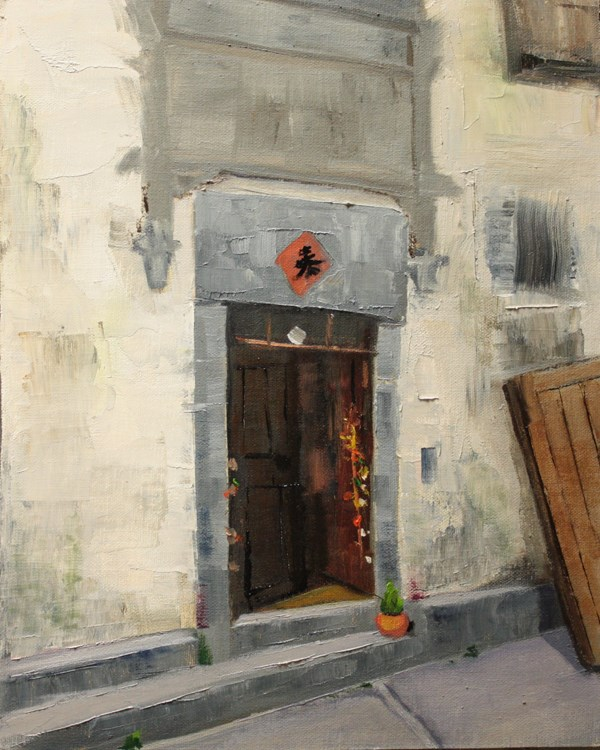 """Xidi Doorway"" original fine art by Jane Frederick"