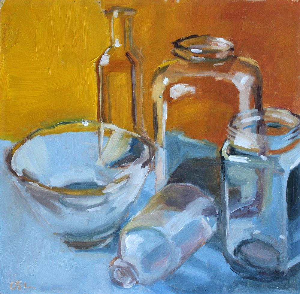 """Glass Study"" original fine art by Corinne Slusser"