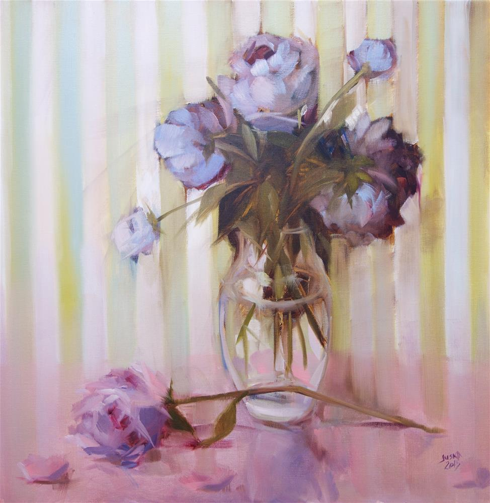 """Peonies and Pink"" original fine art by Elaine Juska Joseph"