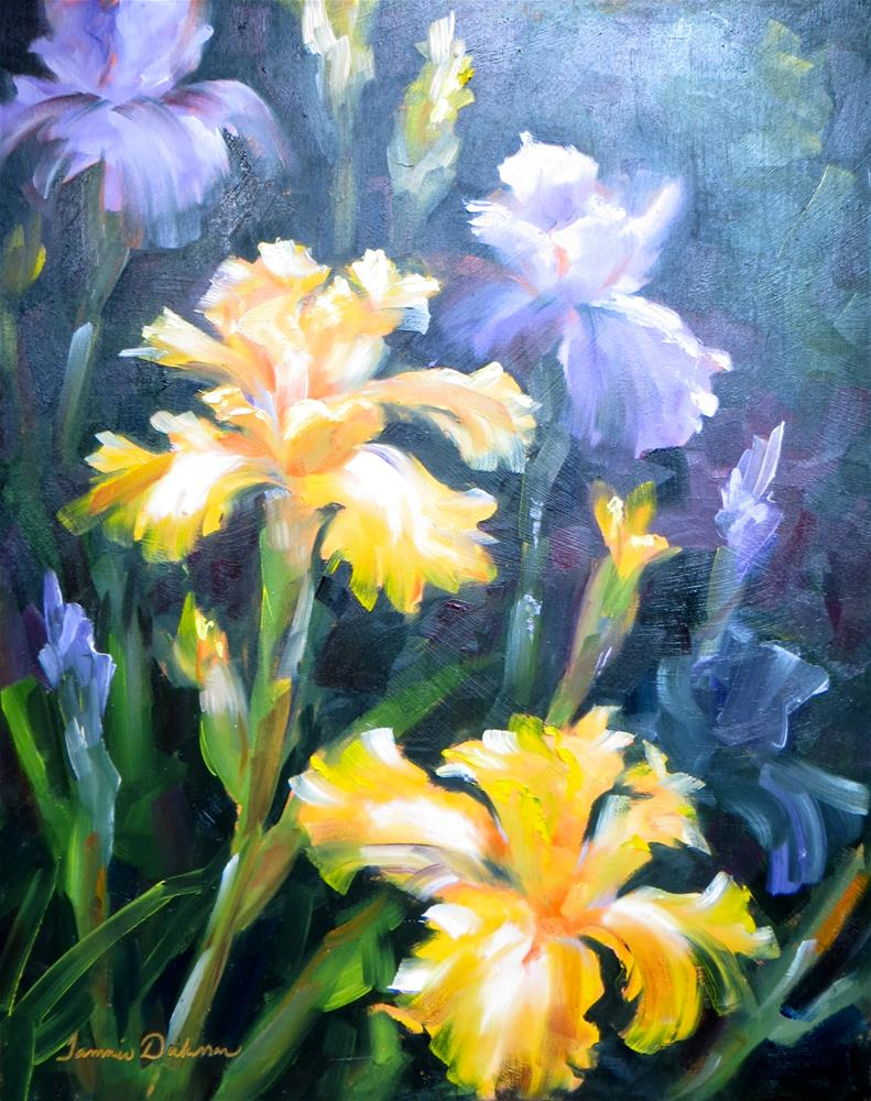 """Profusion of Iris"" original fine art by Tammie Dickerson"